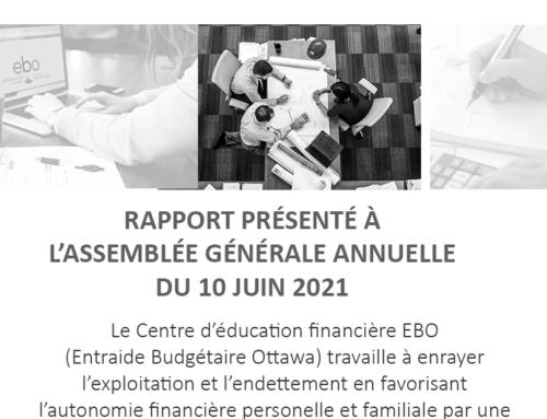 Le Rapport annuel 2020 du Centre d'éducation financière EBO est maintenant disponible!